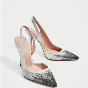 Zara sequinned shoes